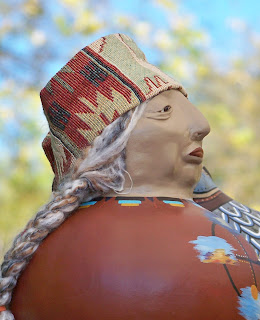 Grandmother of the Four Directions Gourd Art Doll by Jeanne Fry