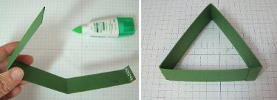 PAP 01 - Mini Árvore feita com dobradura de papel