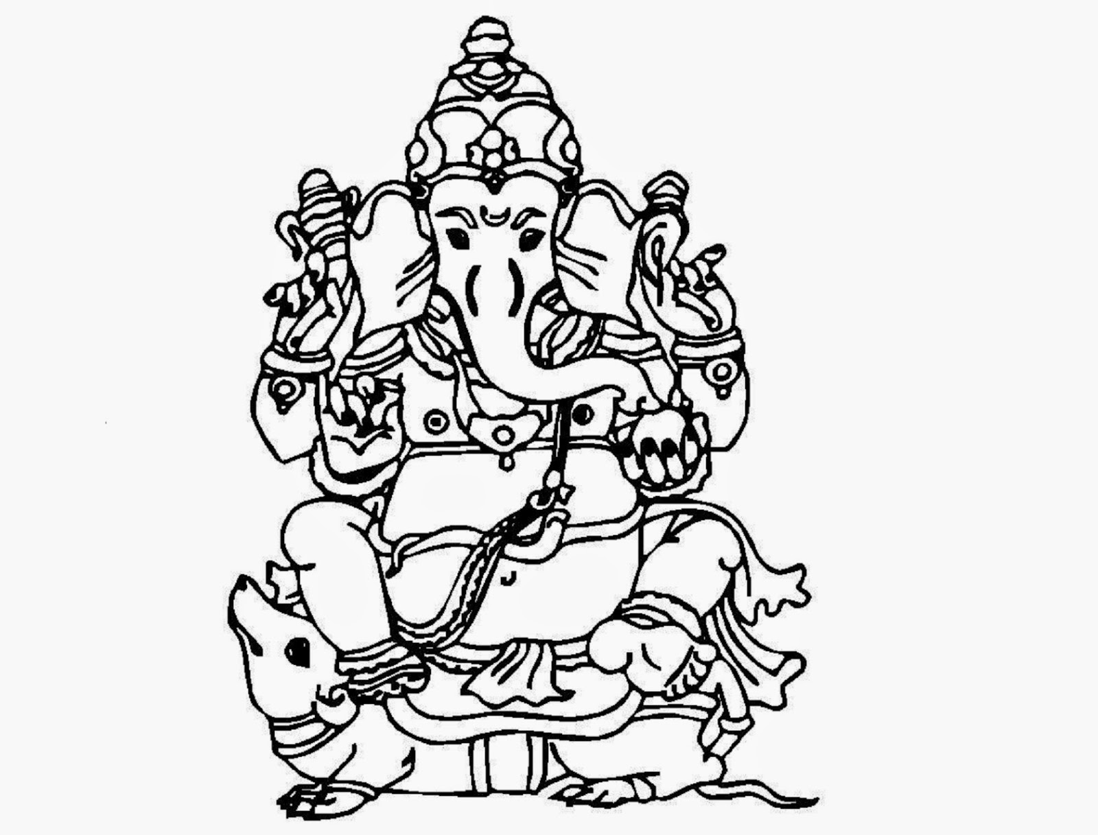 Colour drawing free hd wallpapers lord ganesha coloring for Ganesha coloring pages
