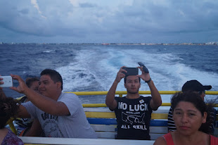 On the Ferry from Cozumel