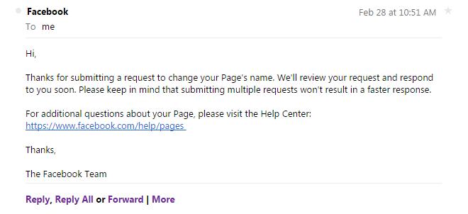 cara tukar nama facebook page lebih 200 like