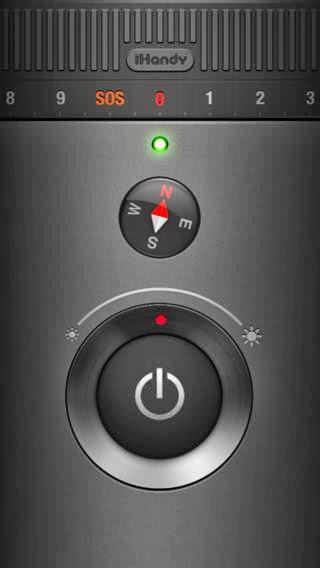 تطبيق مجانى لتحويل جهازك لمصباح للأضاءة وبوصلة لتحديد الاتجاه لنظام آى او إس Flashlight Ⓞ-iOS-1-5-0