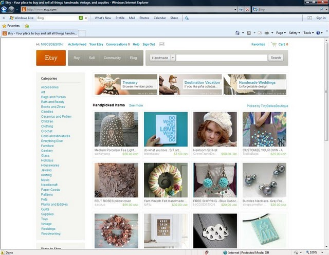NIGOSDESIGN ETSY'NİN BİRİNCİ SAYFASINDAYDI / NIGOSDESIGN WAS FEATURED ON ETSY'S FRONT PAGE