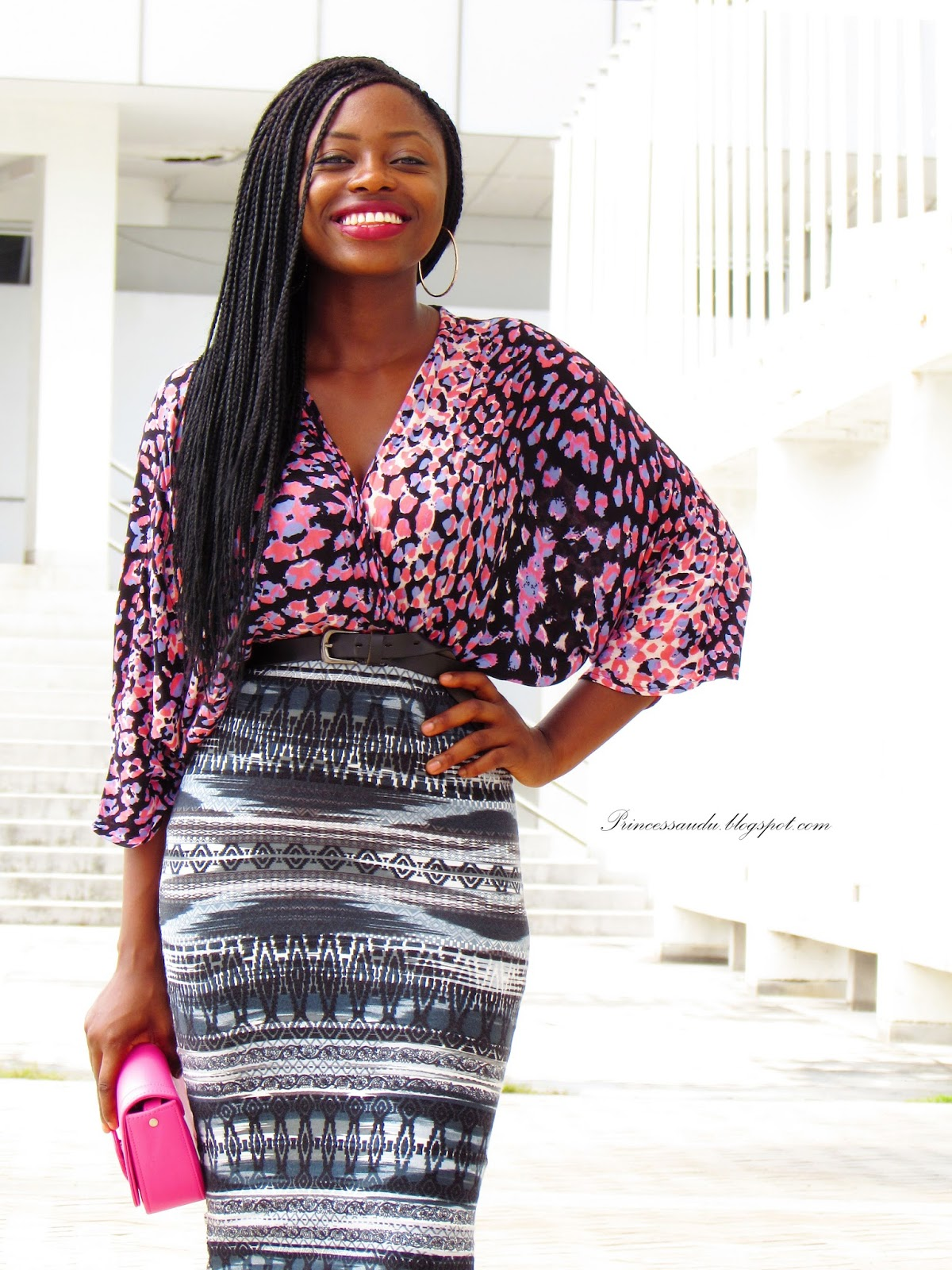 how to mix prints, pencil skirt, midi-skirt, bodycon