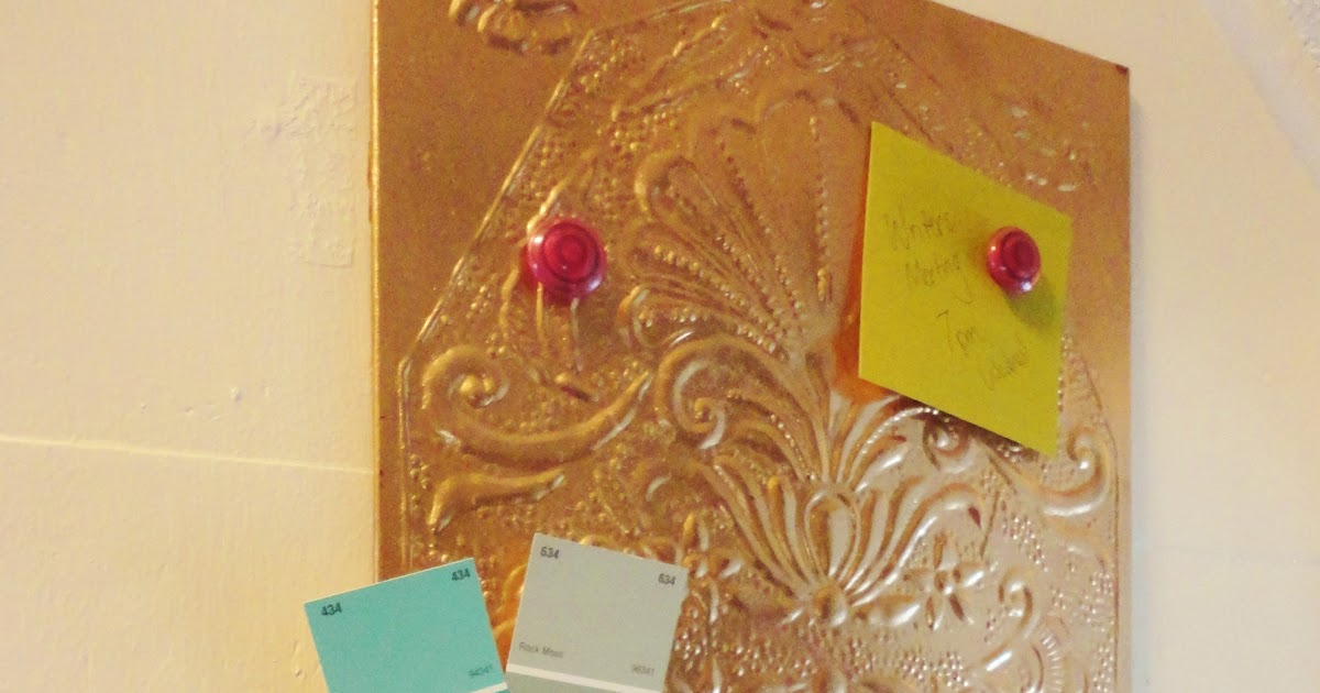 Copper Magnetic Memo Board Diy