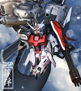 deviantart digital painting fanart gundam fan art sandrum iwsp test
