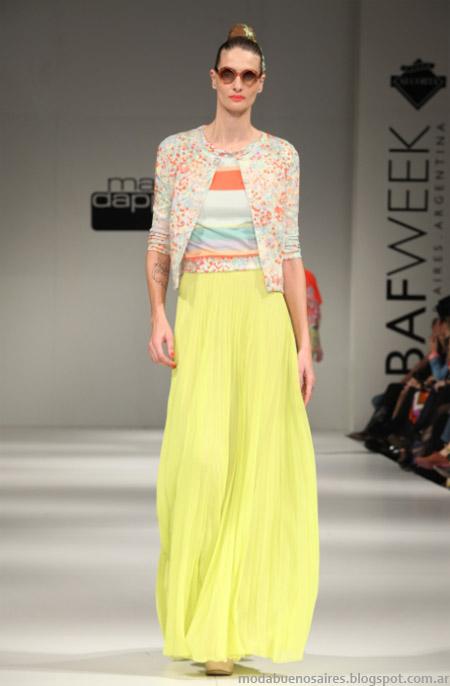 Mariana Dappiano primavera verano 2013. Moda argentina 2013.