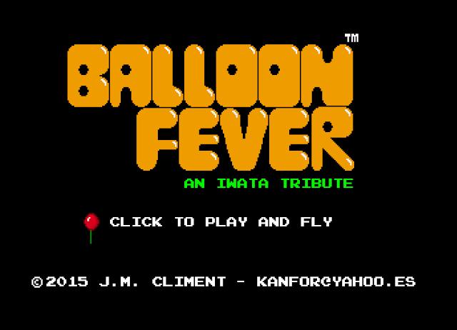 Prueba Ballon Fever, un pequeño homenaje a Satoru Iwata en HTML5