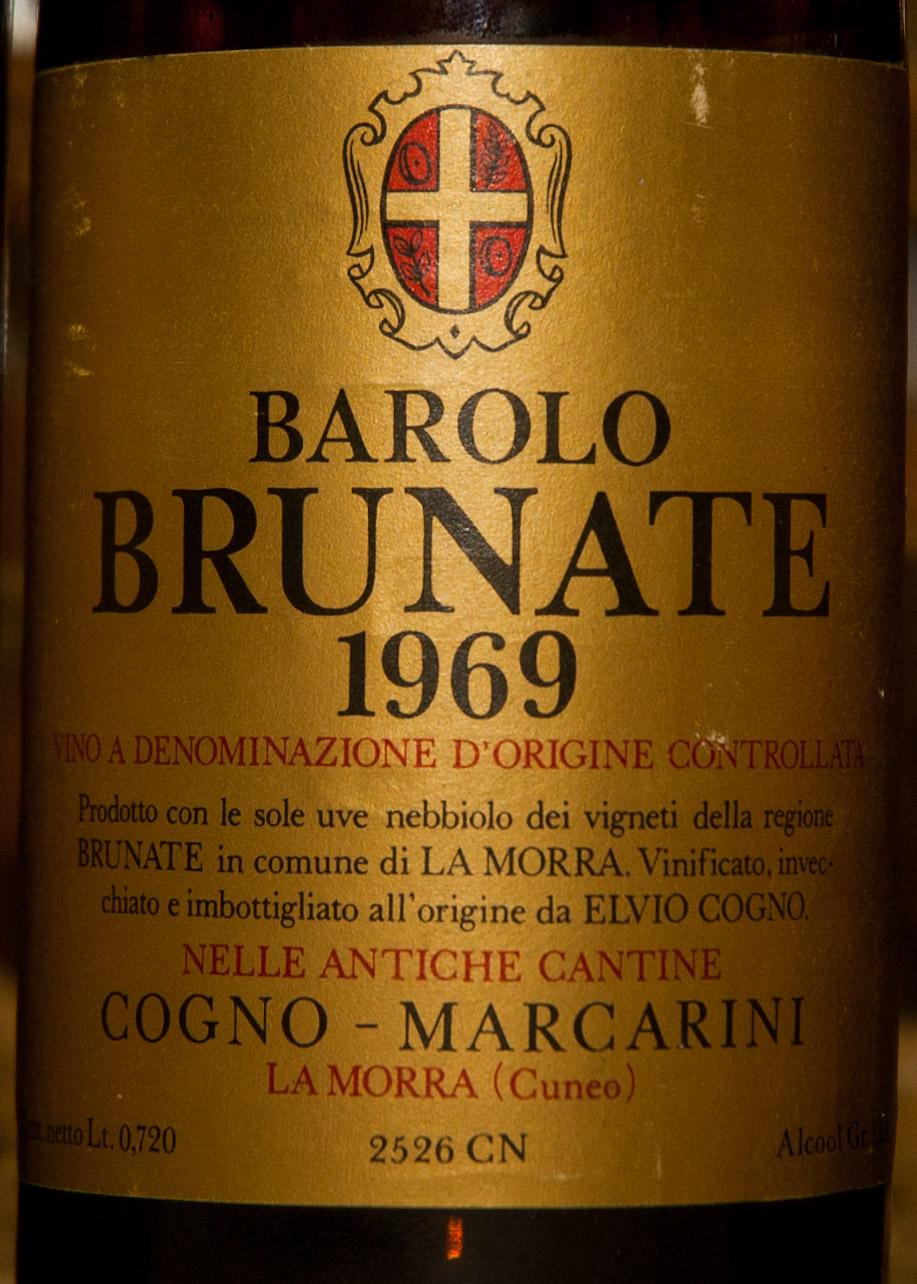 Barolo Brunate Marcarini 1969 Marcarini Barolo Brunate