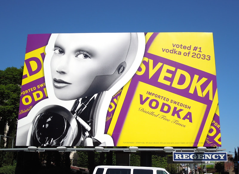 Svedka Vodka billboard Sunset Strip