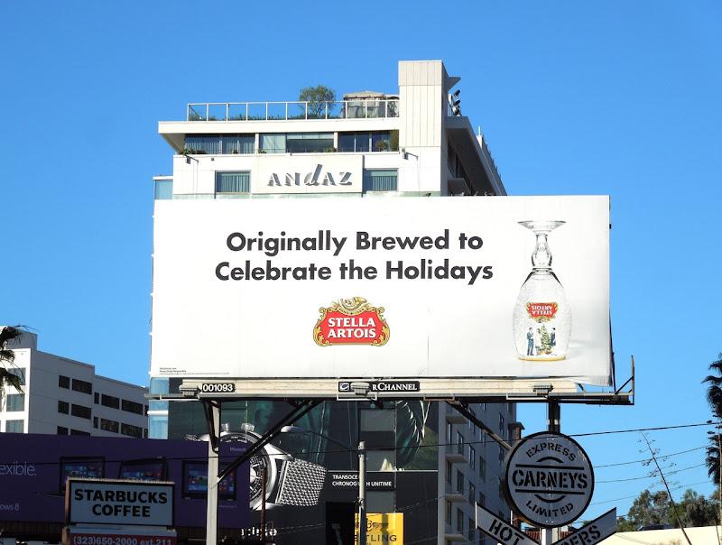 Stella Artois beer Holidays billboard