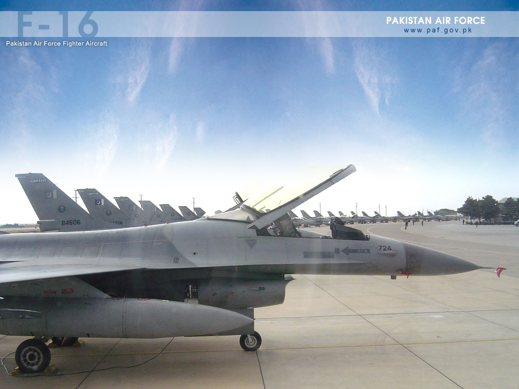 Pakistan Air Force F-16 Parked At Base Wallpaper