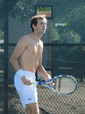 Julien Benneteau Shirtless at Cincinnati Open 2010