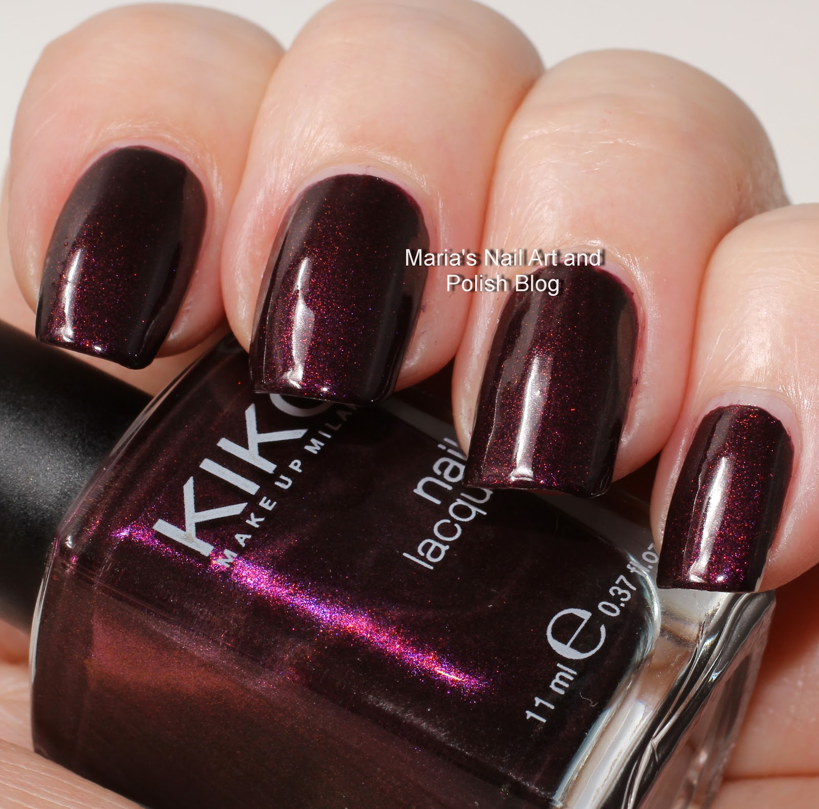 Marias Nail Art And Polish Blog Flushed With Stripes And: Marias Nail Art And Polish Blog: Kiko 245 Pearly Dark Ruby