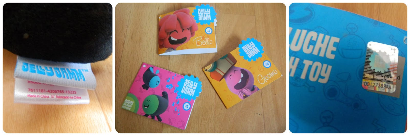 Jelly Jamm Plush toys range details