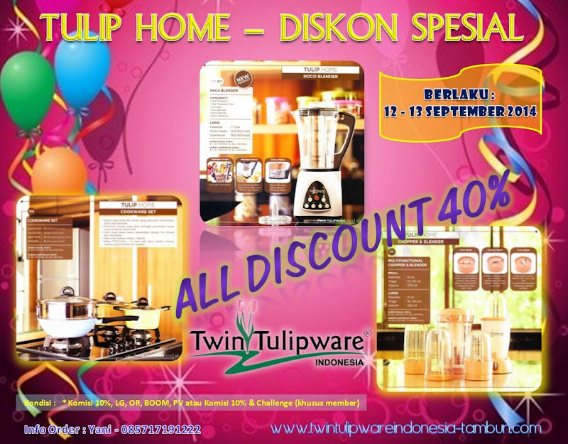Tulip Home Diskon Spesial 40% + 10% : HoCo Blender | Cookware Set | Multi Functional Chopper & Blender