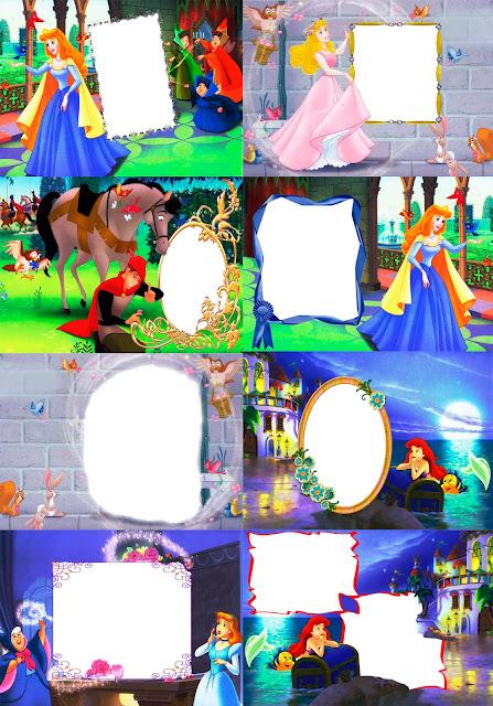Marcos para fotos Gratis.: Marcos Princesas Disney. En Formato Png.