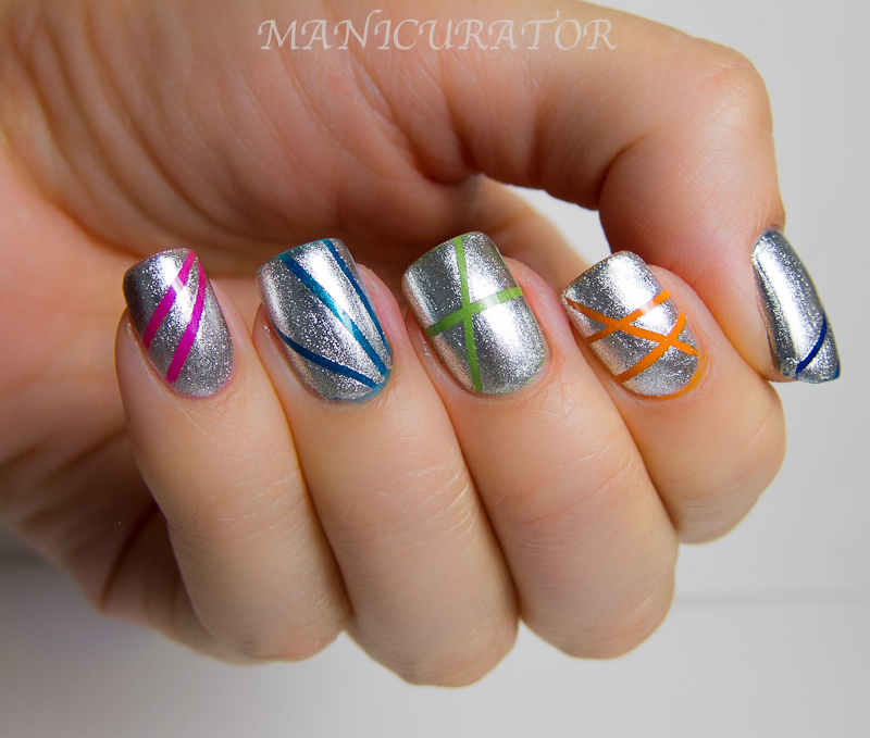 Stripe Nail Art: Manicurator: Abstract Nail Art Challenge