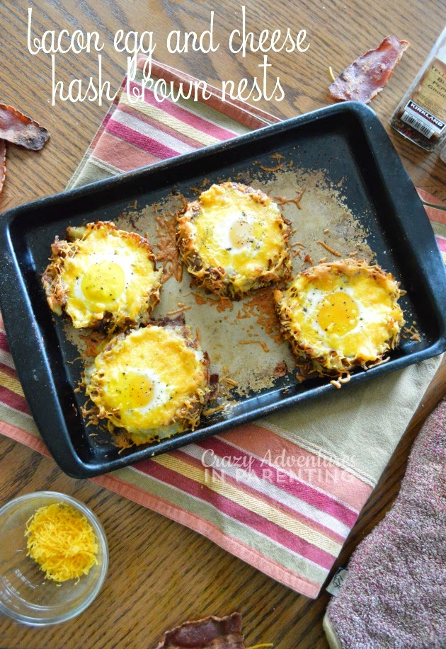 http://crazyadventuresinparenting.com/2014/08/bacon-egg-and-cheese-hash-brown-nests.html