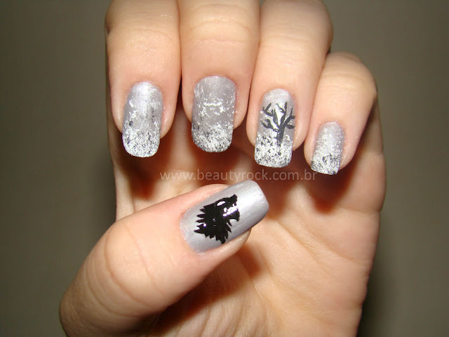 Unhas nail art Game of Thrones