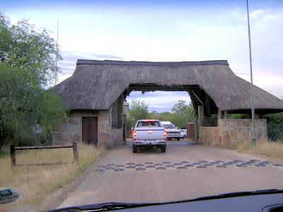 Brama wjazdowa na kemping Skukuza