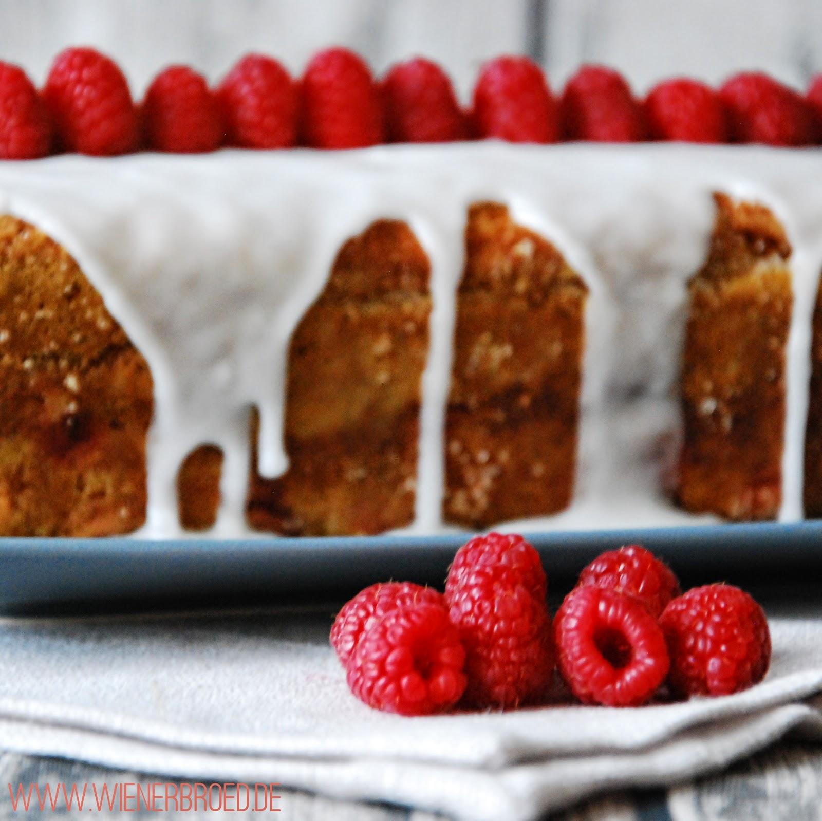 Raspberry creme fraiche cake
