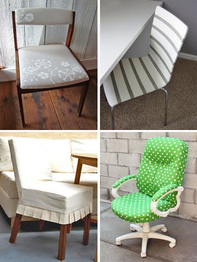 A conversation about seating last night has prompted this post a smattering of ideas for transforming chairs. My favorite? The DIY herringbone tutorial ... & DIY chair makeover tutorials | Design Inspiration