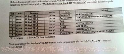 Ikuti Walk in Interview Loker Bank BTPN Syariah di STMIK