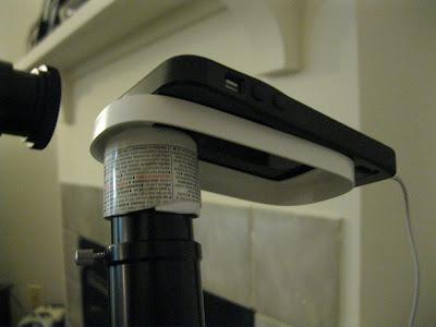 DIY iPhone telescope mount