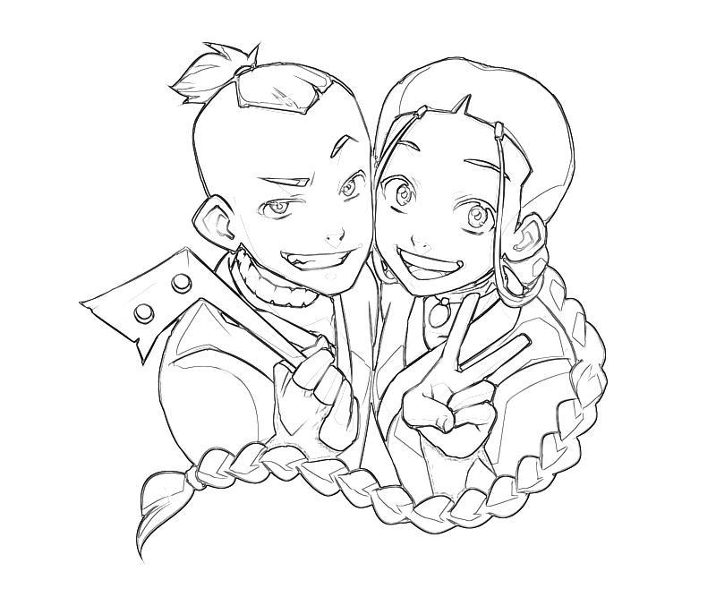 printable-avatar-katara-and-sokka-coloring-pages