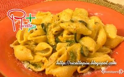 Conchiglie con Zucchine, Zafferano e Pesto di Pistacchi di Cotto e Mangiato