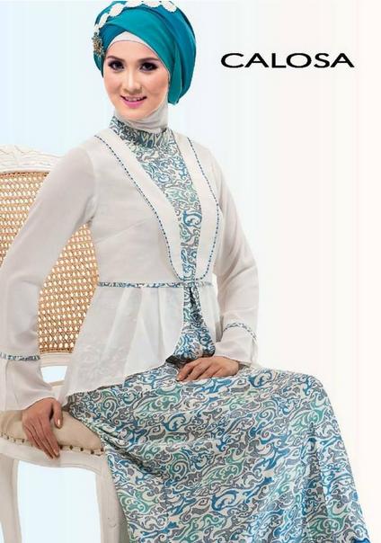 Gambar Baju Muslim Brokat untuk Pesta