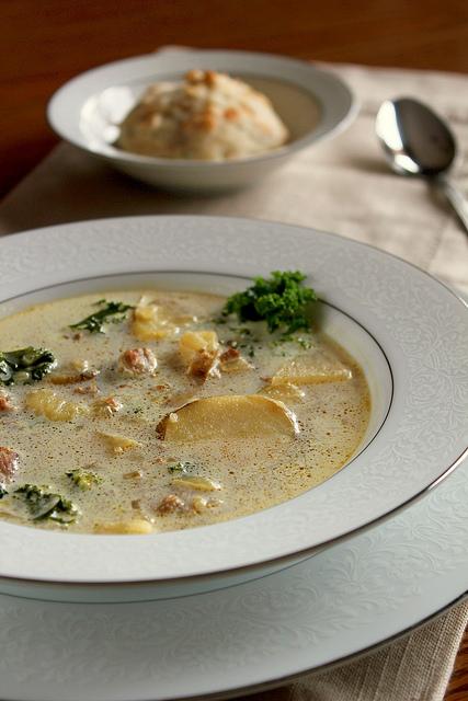 Fancy Napkin Zuppa Toscana Soup