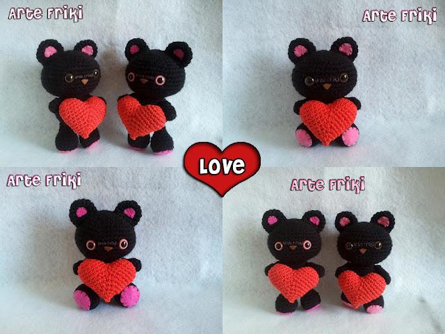 oso amigurumi bear crochet ganchillo peluche plush heart corazón