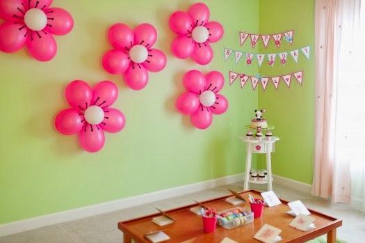 Как украсить шариками день рождения ребенку
