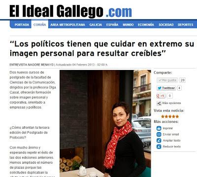 Olga Casal. Protocolo