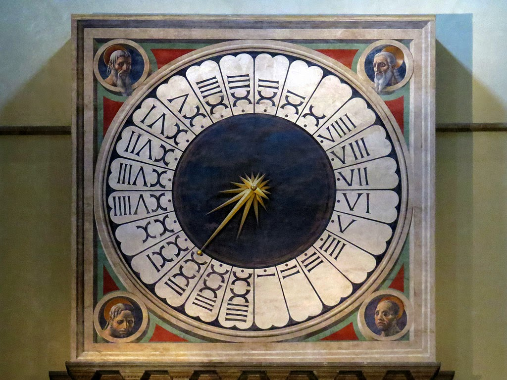 Clock by Angelo Niccolai, fresco by Paolo Uccello, Santa Maria del Fiore, Florence