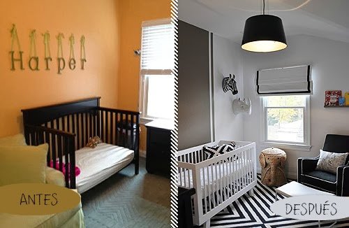 Antes y Después de un cuarto de bebé