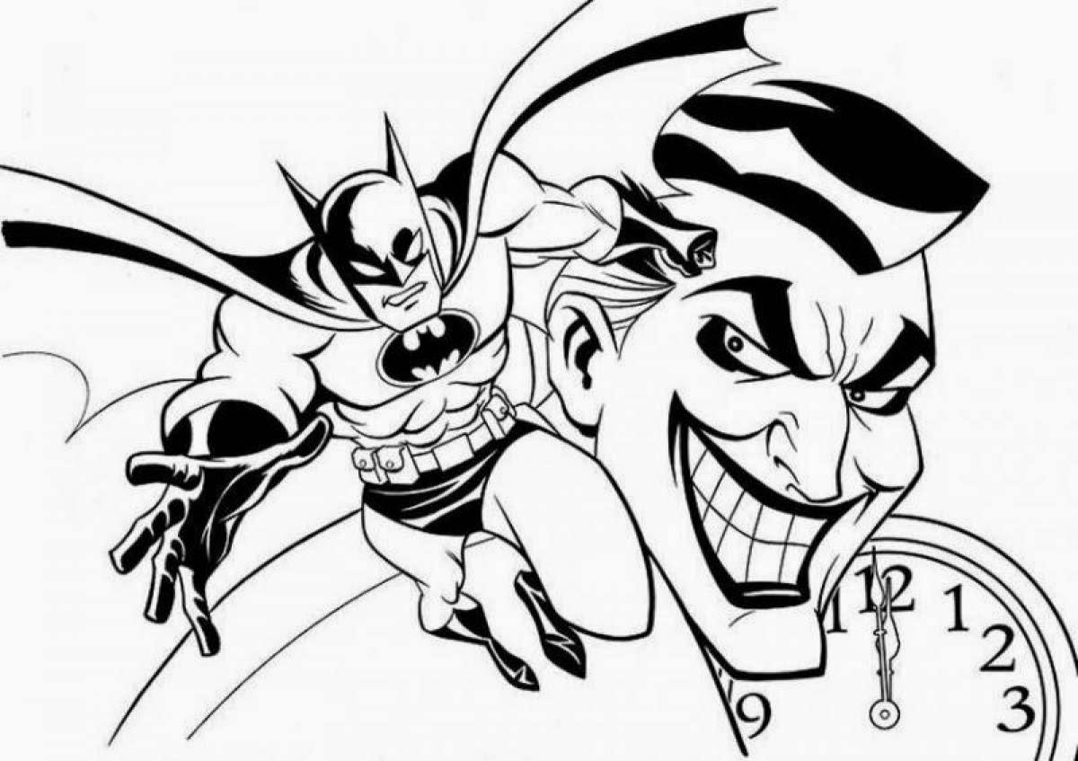 Coloring Pages Batman Free Downloadable
