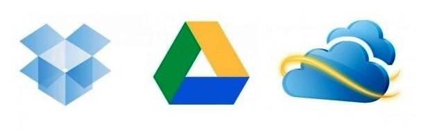 Dropbox, Google Drive e SkyDrive