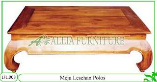 Meja Lesehan Klender Model Polos