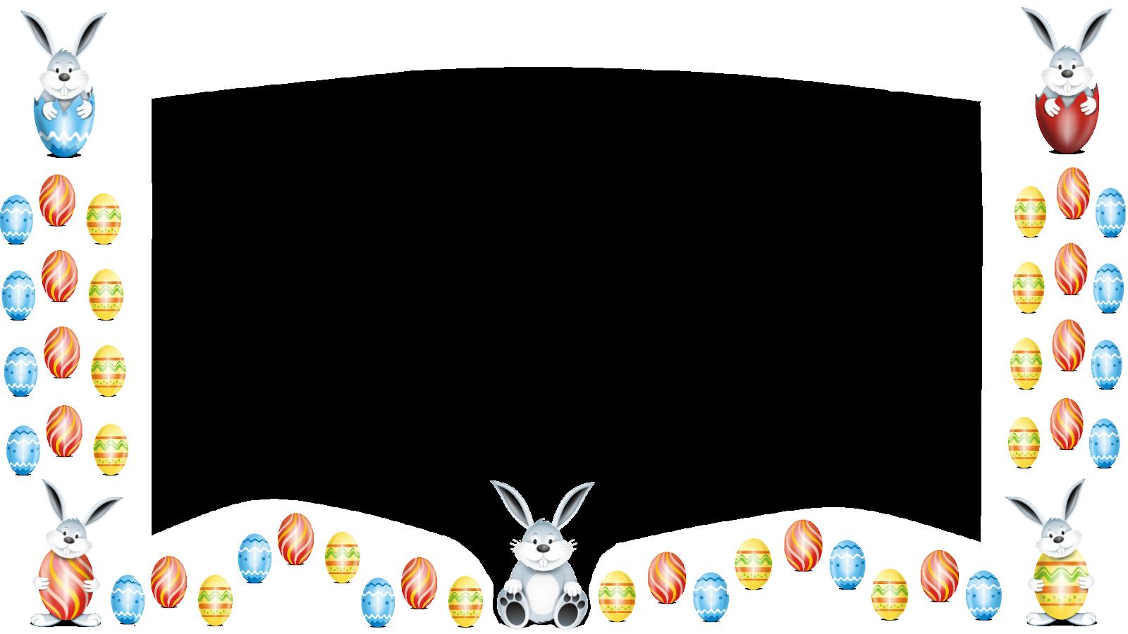 Coelhinhos e ovos._borda branca png
