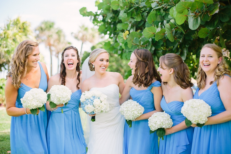 bridesmaids Florida beach wedding photography