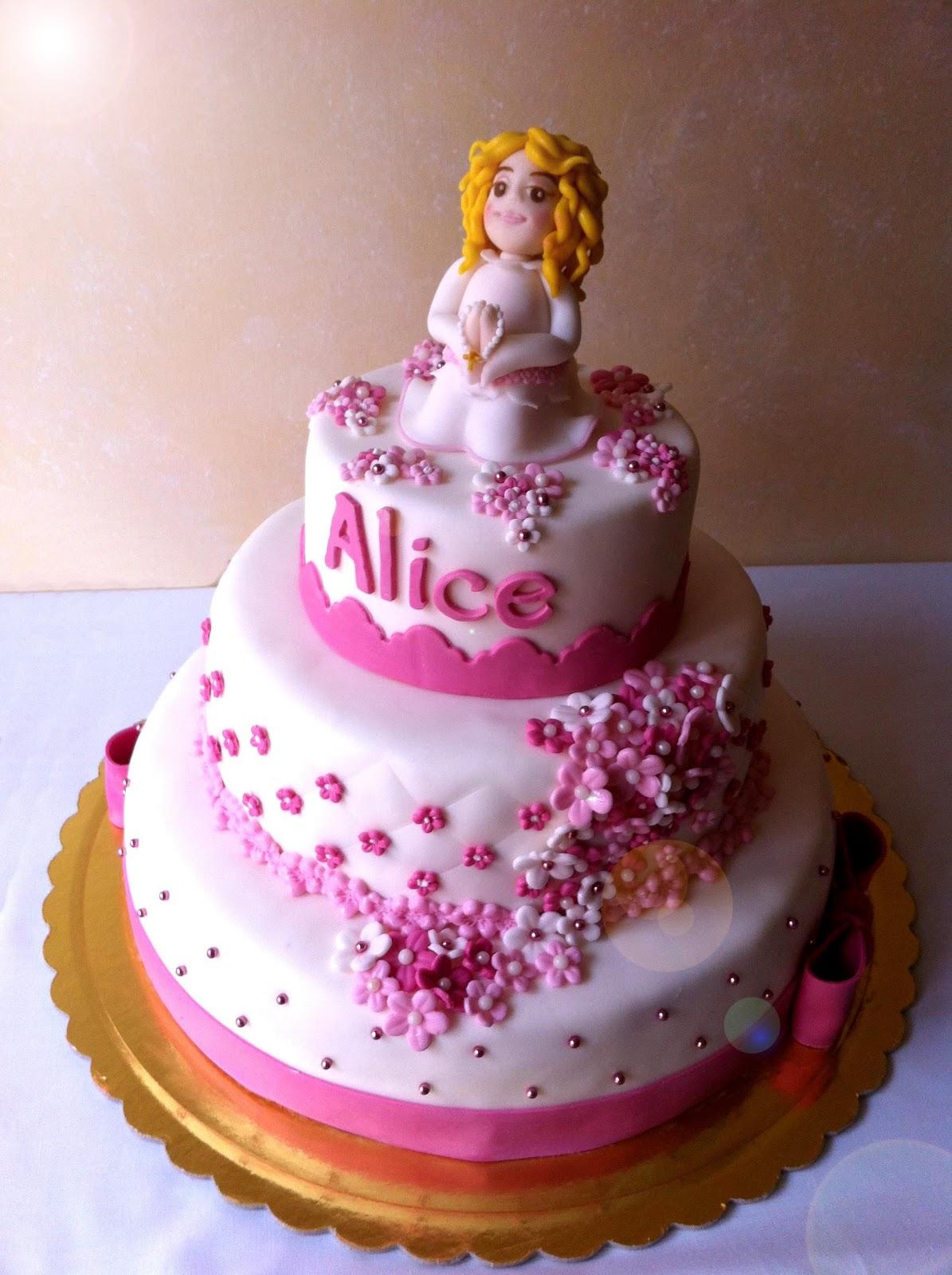Alessandra e i suoi dolci torta prima comunione for Decorazione torte prima comunione