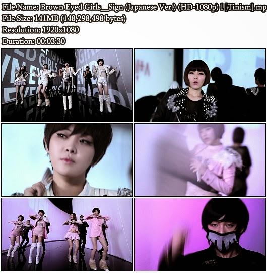 Download PV Brown Eyed Girls (브라운 아이드 걸스) - Sign (Japanese Version) (HD 1080p)