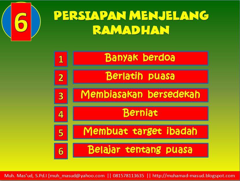 Muhamad Mas Ud Persiapan Menjelang Bulan Ramadhan