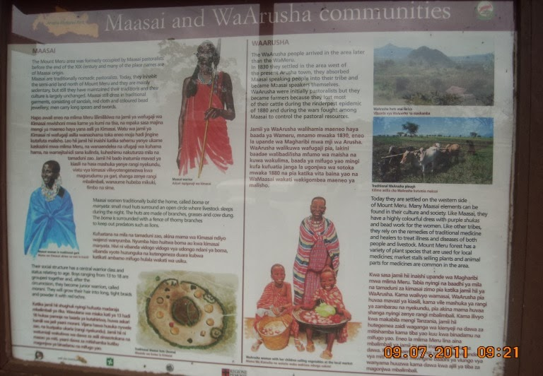Maasai and Wa- Arusha Communities