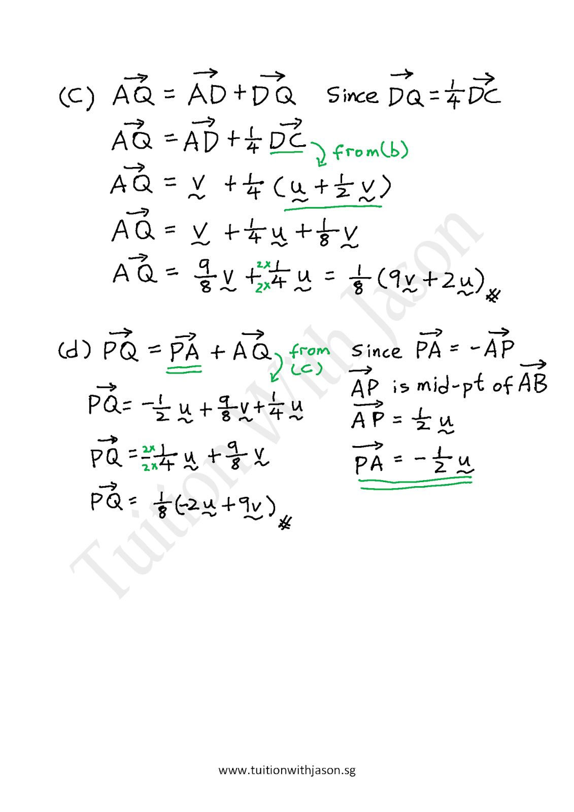 E Math Vectors Expression Of A Given Vector In Terms Of Two