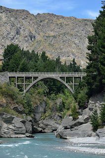 Bridge over the Shotover River in Queenstown, NZ