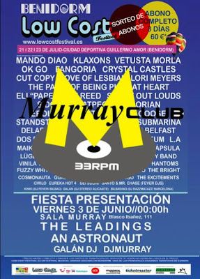 low cost festival. fiesta presentación Discoteca Murray valencia.Sorteo de abonos para el low cost